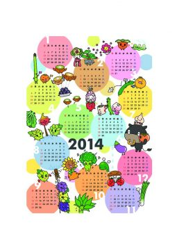 2014年 年間カレンダー ご要望にお答えして、CDサイズのミニカレンダーも出来ました!! ハサミで切って使ってね♪