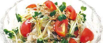 ミニトマトとゴボウのさっぱりサラダ