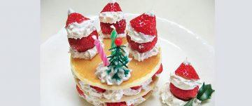 イチゴサンタのパンケーキ