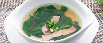 エンクーシンとベーコンのスープ