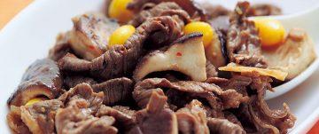 牛肉と椎茸のオイスターソース炒め