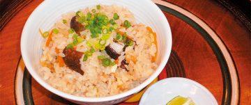 焼き椎茸ご飯