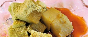 ソラマメのわらび餅